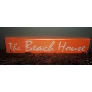 THE BEACH HOUSE Chic Shabby Rustic CUSTOM Plaque Wood Sign Wall Decor