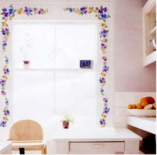 WST 14 Pansy, Mural Self Adhesive Decal Wall Sticker