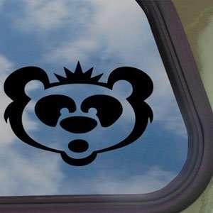 Panda Bear Big Head Black Decal Car Truck Window Sticker