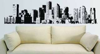 New York City NYC Skyline Mural Wall Vinyl Decal 7.5 ft