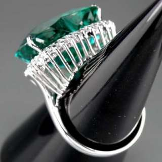 3127 Paraiba Apatite 38.27ct. Silver 925 Ring Size.6.5  