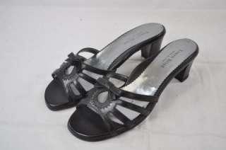 ROSE MANDI BLACK BEAUTIFUL BOW LEATHER 2HEEL 38 8(3248) $425