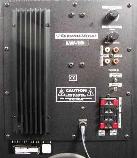 Cerwin Vega LW 10 Floor Subwoofer 10 100 Watts Powered RMS Sub LW10