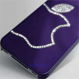 Silver Grey Swarovski Diamond Crystal Hard Case Cover For All iphone 4