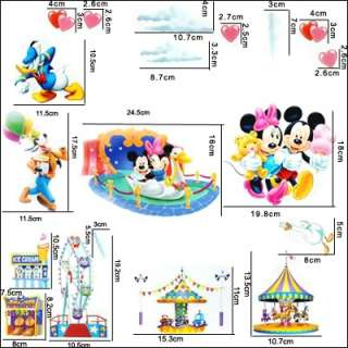 Cute Disney Mickey Minnie & Friends Home wall art Decor stickers