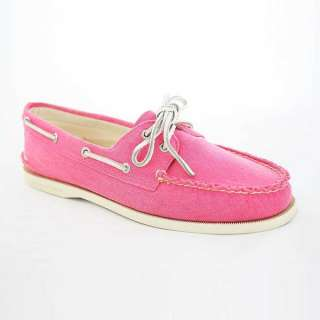 SPERRY Top Sider Montauk Tan/Pink Womens Boat Shoes