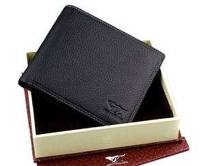 New Mens Wallet Genuine Leather Black Wolf Totem Purse