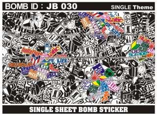 Large Size JDM   USDM   HellaFlush Sticker Bomb Sheet   700 x 1000 mm