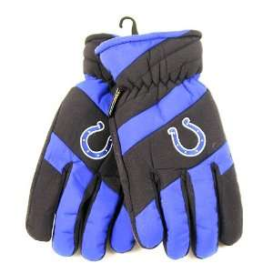 Indianapolis Colts NFL Mens Thinsulate Blue Ski Gloves (L