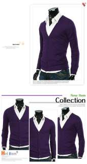 Mens Slim Casual Sweater Vneck Cardigan Collection