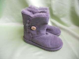 Ugg Australia Bailey Button Grey Kids Boots Size 2