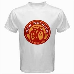 Fat Tire Belgium Beer Logo New White T Shirt Size L
