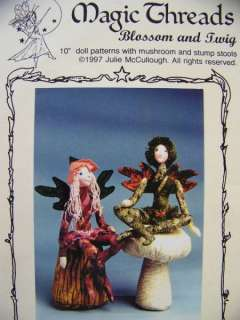 Primitive Style Fairy Doll Patterns Blossom & Twig 10 UNCUT