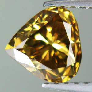 UNTREATED Rare Fancy Intense Yellow Natural Diamond 4.4x4.4x3 mm Pear