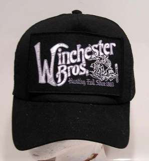 SUPERNATURAL WINCHESTER BROS Baseball Cap/Hat w Patch