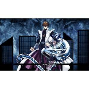 Yugioh Seto Kaiba with Blue Eyes White Dragon Custom Playmat / Gamemat