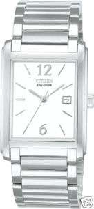Citizen Eco Drive Mens BW0170 59A Square Date Watch