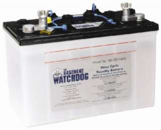 Hour Deep Cycle Battery, 140A, Shipped Dry, For Use With Basement