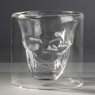 NEW Party Decorative Crystal Skull shot Glass red Wine Whisky Vodka