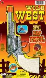 WILD WEST CAP GUN PISTOL FIRES ROLL CAPS NEW IN PACK