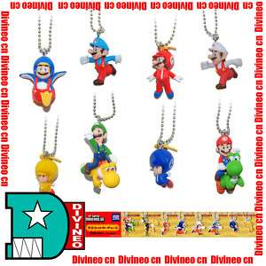 Tomy Super Mario Bros Wii Mario Characters Keychain Toy