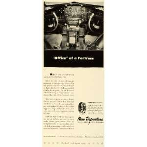 Ball Rolling Bearing Bristol CT Cockpit Aircraft   Original Print Ad