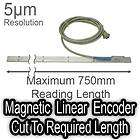 750mm magnetic linear encoder digital readout dro scale new location