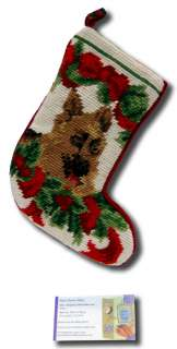 stocking needle point christmas xmas animal seasonal puppy sk 787s