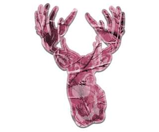 DEER Sticker Hunting PINK CAMO Camouflage Whitetail BUCK Hunter Vinyl