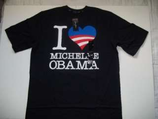 SEAN JOHN Black Graphic Michelle Obama USA Patriotic T Shirt