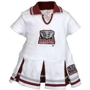 Alabama Crimson Tide White Infant Cheerleader Dress