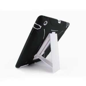 Black/White Double Layer Hybrid Silicon Case Skin + Hard
