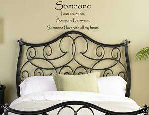 SOMEONE I LOVE WITH Vinyl Wall Decals Quotes Sayings
