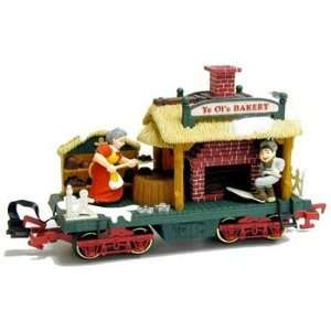 New Bright   Holiday Express Bakery Car G   3843: Toys & Games