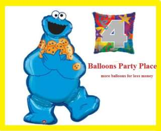MONSTER BIRTHDAY BALLOONS sesame street party 2nd third fourth 1st new