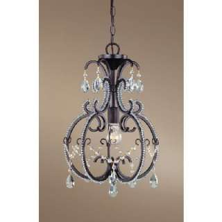 NEW 1 Light Vintage Mini Pendant Lighting Fixture, Coffee Black with