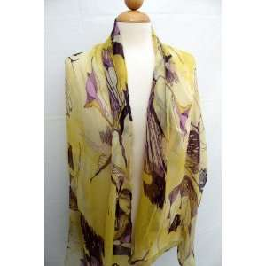 Gorgeous Flower Design Scarf,Scarves for Women ,High Fashion Italy