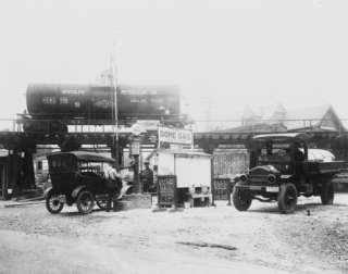 1921 photo Dome gas service station, Takoma Park,