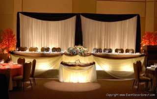 Professional Wedding Backdrop Kit w/Pipe, Drape, Valence: 2 PANEL 6