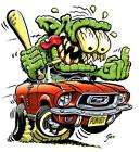 Hot Rod Mustang Monster Muscle Car Cartoon Tshirt items in Maddmax