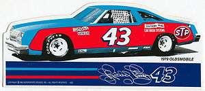 PETTY 1979 OLDS CUTLASS #43 STP CAR NASCAR RACING DECAL STICKER