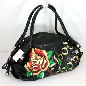 Rose Thorns Tattoo Handbag Purse Tote Satchel + Ed Hardy
