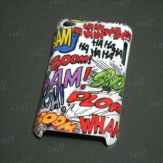 New Comic Colorful words Haha Plastic Hard Cover Skin Case For iPod
