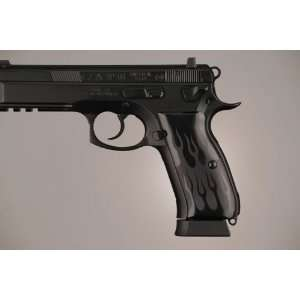 Hogue CZ 75   CZ 85 Flames Aluminum   Black Anodized 75130