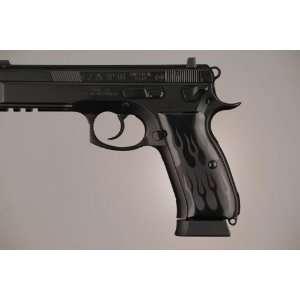 Hogue CZ 75   CZ 85 Flames Aluminum   Black Anodized 75130