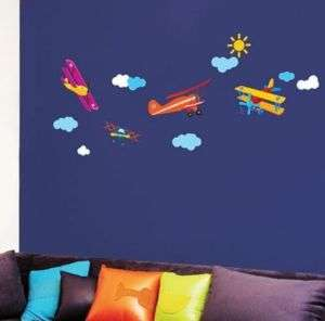 Sky Pilot Air Kid Adhesive Wall STICKER Removable Decal
