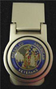 DISABLED AMERICAN VETERANS SILVER MONEY CLIP BOXED NEW