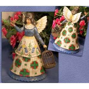 ENESCO Jim Shore Angel W/ Birdcage Home & Kitchen