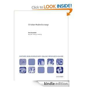 Christian Muslim Exchange: Oxford Bibliographies Online Research Guide