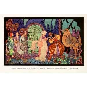 1928 Color Print DErlanger Costume Camel Arab Fantasy